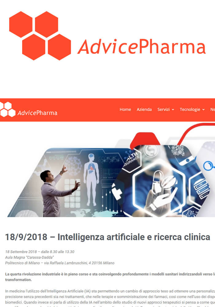 "Giorgio Manfredi speaker at the conference ""Artificial Intelligence and Clinical Research"""